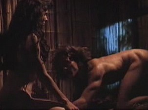 Sandra Bullock performing in four explicit sex videos from Fire on the Amazon from Celebs Video Archive
