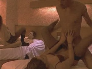 Karen Lancaume enjoying wildest sex orgy foursome in 4 hi-resolution videos from Celebs Video Archive