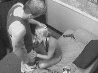 Sexy student sucking her coach and getting filmed! from Security Cams Fuck