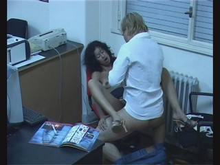 Harlot colleagues stay after work craving for sex! from Security Cams Fuck