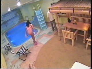 Steamy fuck in the sauna filmed by security cam! from Security Cams Fuck