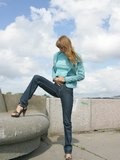 Bubble booty gets caught by tight jeans from Upskirt Collection