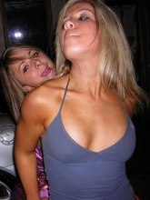 Tits jumping out from frisky bimbos' tiny tits from Upskirt Collection
