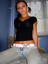 Skinny jeans sexily wrapping pretty bimbo?s bodies from Upskirt Collection