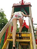 Unforgettable upskirt view from trimmed gal having fun from Upskirt Collection