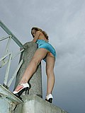 Extra hard shots with gal in tight dress wearing no panties from Upskirt Collection