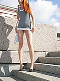 Frisky chick enjoys sunny day and cam shooting her upskirt from Upskirt Collection