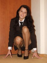 Lewd babes' upskirt view looks great when they wear nylons from Upskirt Collection