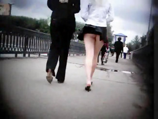 Light wind uncovering public upskirt::Babe is walking with her friend but she shouldn???t have worn such a short skirt::Upskirt Collection - Voyeur Upskirt free photo and video gallery::Upskirt Collection
